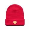 CHARLIE HUSTLE | KC HEART BEANIE - RED & YELLOW