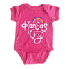 AMPERSAND | RETRO KANSAS CITY ONESIE -BERRY