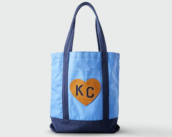 SANDLOT TOTE | HUSTLE HEART | LIGHT BLUE & NAVY