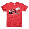 CHARLIE HUSTLE | KANSAS CITY FOOTBALL VINTAGE T-SHIRT - RED