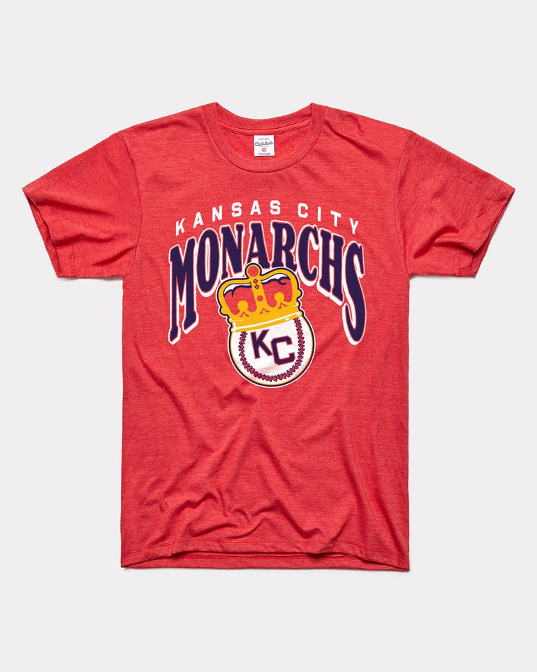 CHARLIE HUSTLE | KANSAS CITY MONARCHS CROWN T-SHIRT - RED