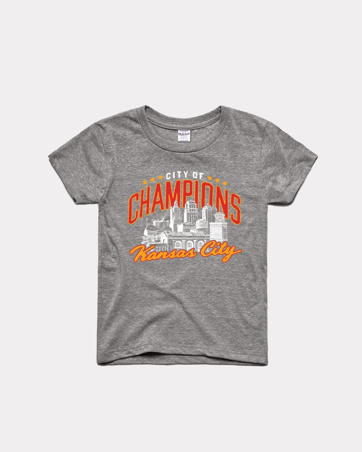 CHARLIE HUSTLE | KIDS CITY OF CHAMPIONS T-SHIRT - GREY