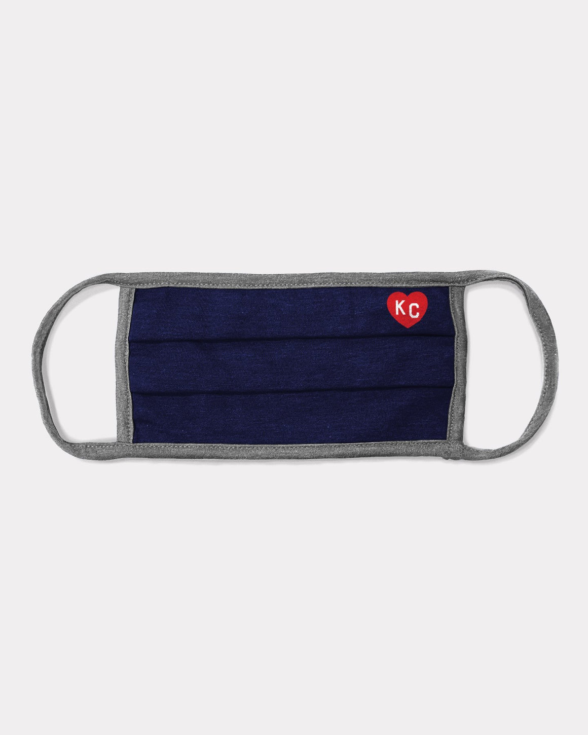 CHARLIE HUSTLE | NAVY, GREY AND RED KC HEART FACE MASK