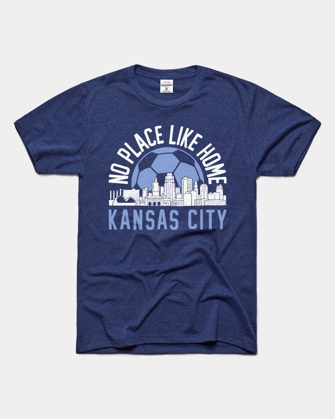 CHARLIE HUSTLE | NO PLACE LIKE HOME T-SHIRT - NAVY