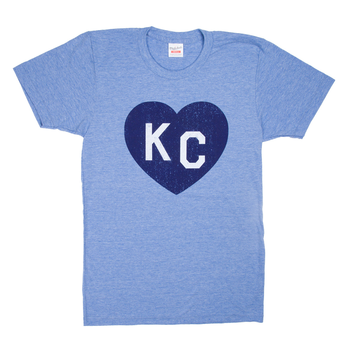 CHARLIE HUSTLE | KC HEART T-SHIRT - LIGHT BLUE