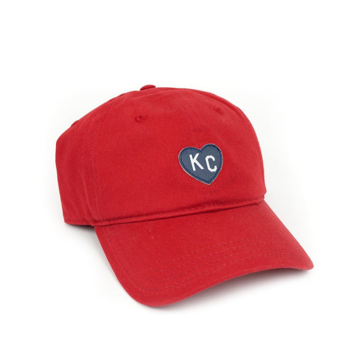 CHARLIE HUSTLE | DAD HAT | RED / NAVY HEART