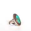 VINTAGE JEWELRY | STERLING TURQUOISE RING (SIZE 6)