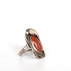 VINTAGE JEWELRY | STERLING CORAL RING (SIZE 7)