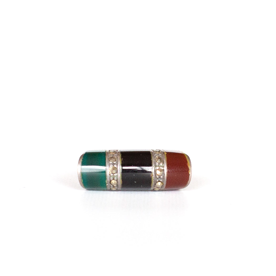 VINTAGE JEWELRY | MULTI-STONE STERLING RING (SIZE 5)