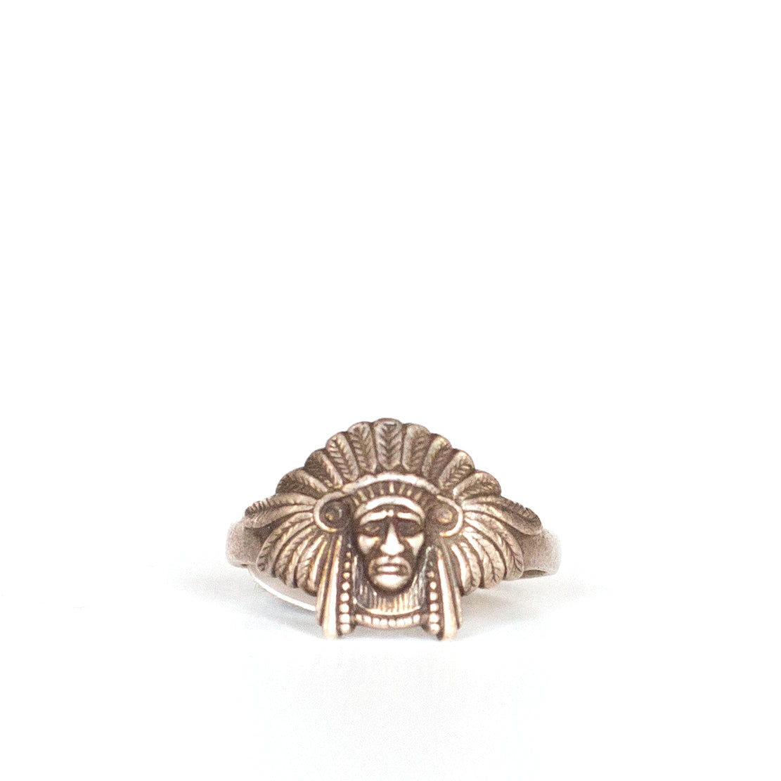 VINTAGE JEWELRY | STERLING INDIAN RING (SIZE 10.5)