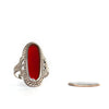 VINTAGE JEWELRY | STERLING RED CORAL RING (SIZE 7)
