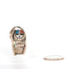 VINTAGE JEWELRY | ZUNI STERLING SUNFACE RING (SIZE 6.5)