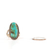 VINTAGE JEWELRY | STERLING TURQUOISE RING (SIZE 4)