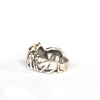 VINTAGE JEWELRY | STERLING CATS RING (SIZE 8.75)