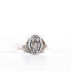VINTAGE JEWELRY | STERLING UMKC CREST RING (SIZE 4)