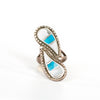 VINTAGE JEWELRY | STERLING WHITE & BLUE STONE RING (SIZE 5.5)