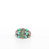 VINTAGE JEWELRY | STERLING TURQUOISE & MALACHITE RING (SIZE 7.25)