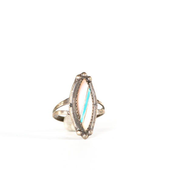 VINTAGE JEWELRY | MULTI-STONE STERLING RING (SIZE 7)