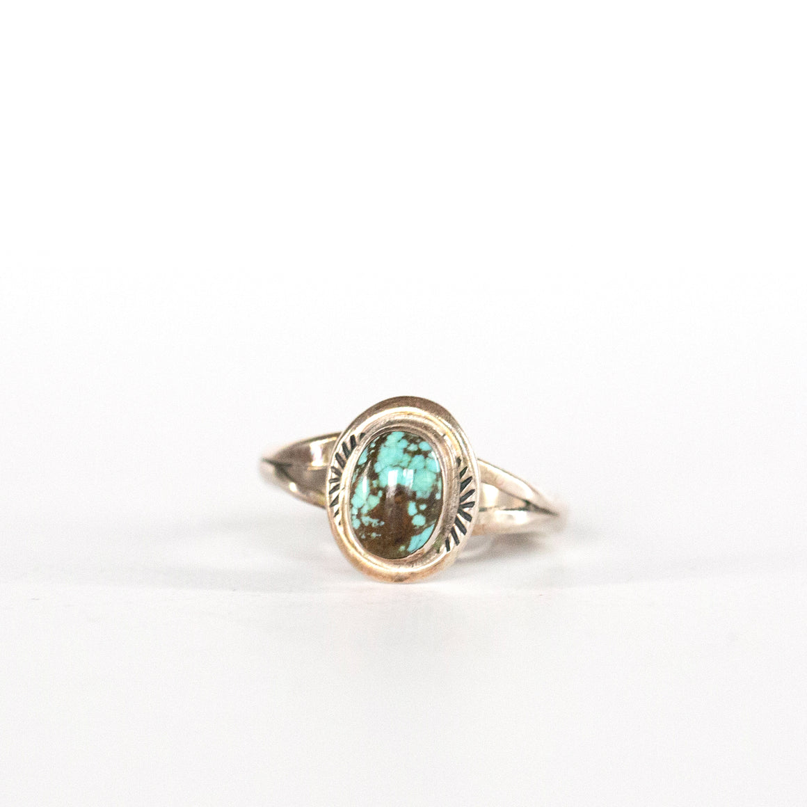 VINTAGE JEWELRY | STERLING TURQUOISE RING (SIZE 7)