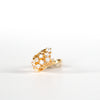 VINTAGE JEWELRY | GOLD-TONE STERLING FAUX DIAMOND RING (SIZE 6)