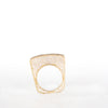 VINTAGE JEWELRY | MODERN GOLD-TONE STERLING MICROZIRCONIA BAR RING (SIZE 7.5)