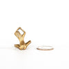 VINTAGE JEWELRY | BRASS MODERNIST NUDE WOMAN RING (SIZE 6)