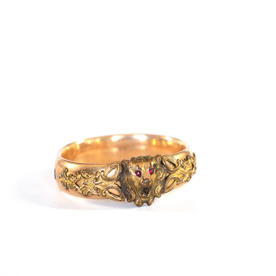 VINTAGE JEWELRY | ART NOVEAU LION CUFF
