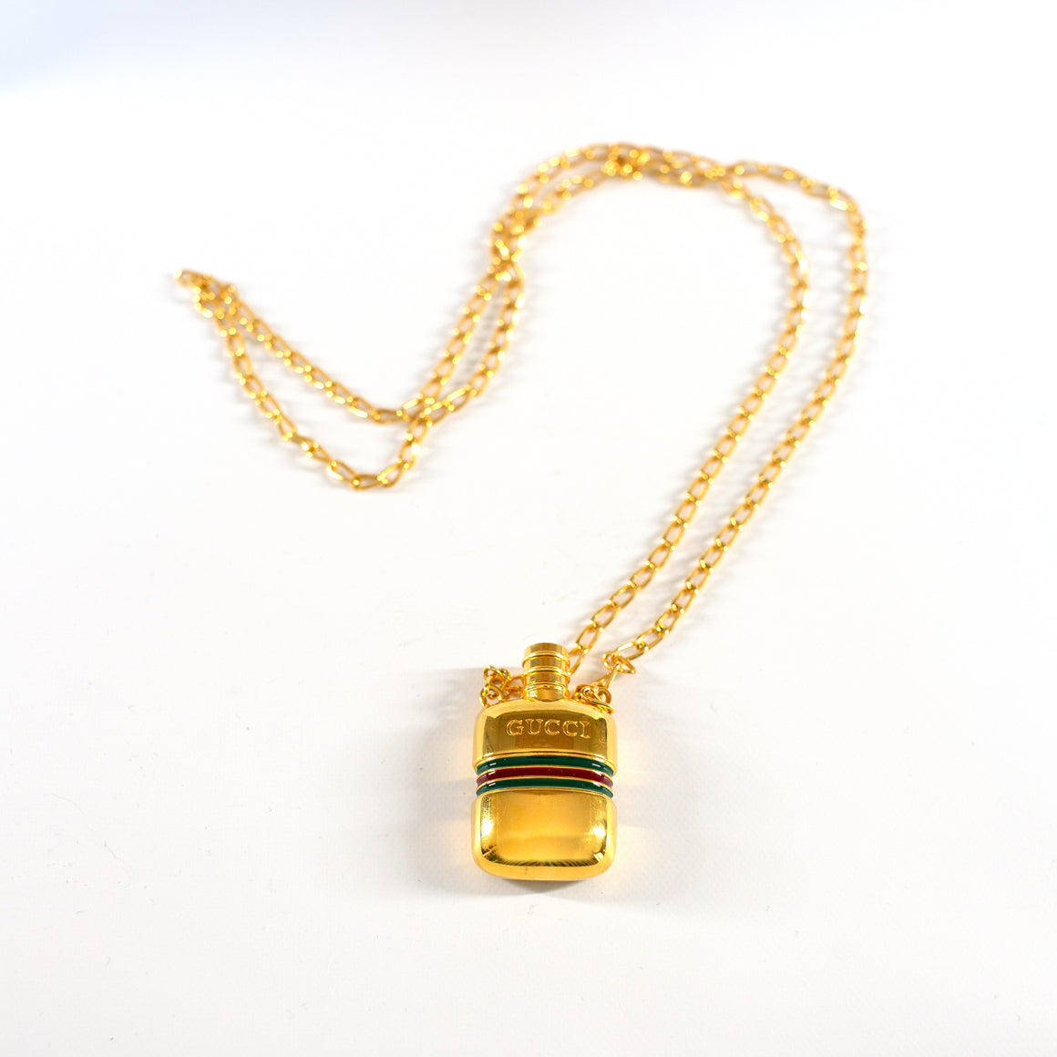 VINTAGE JEWELRY | GUCCI PERFUME VIAL NECKLACE