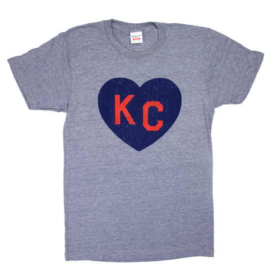 CHARLIE HUSTLE | KC HEART T-SHIRT - GREY