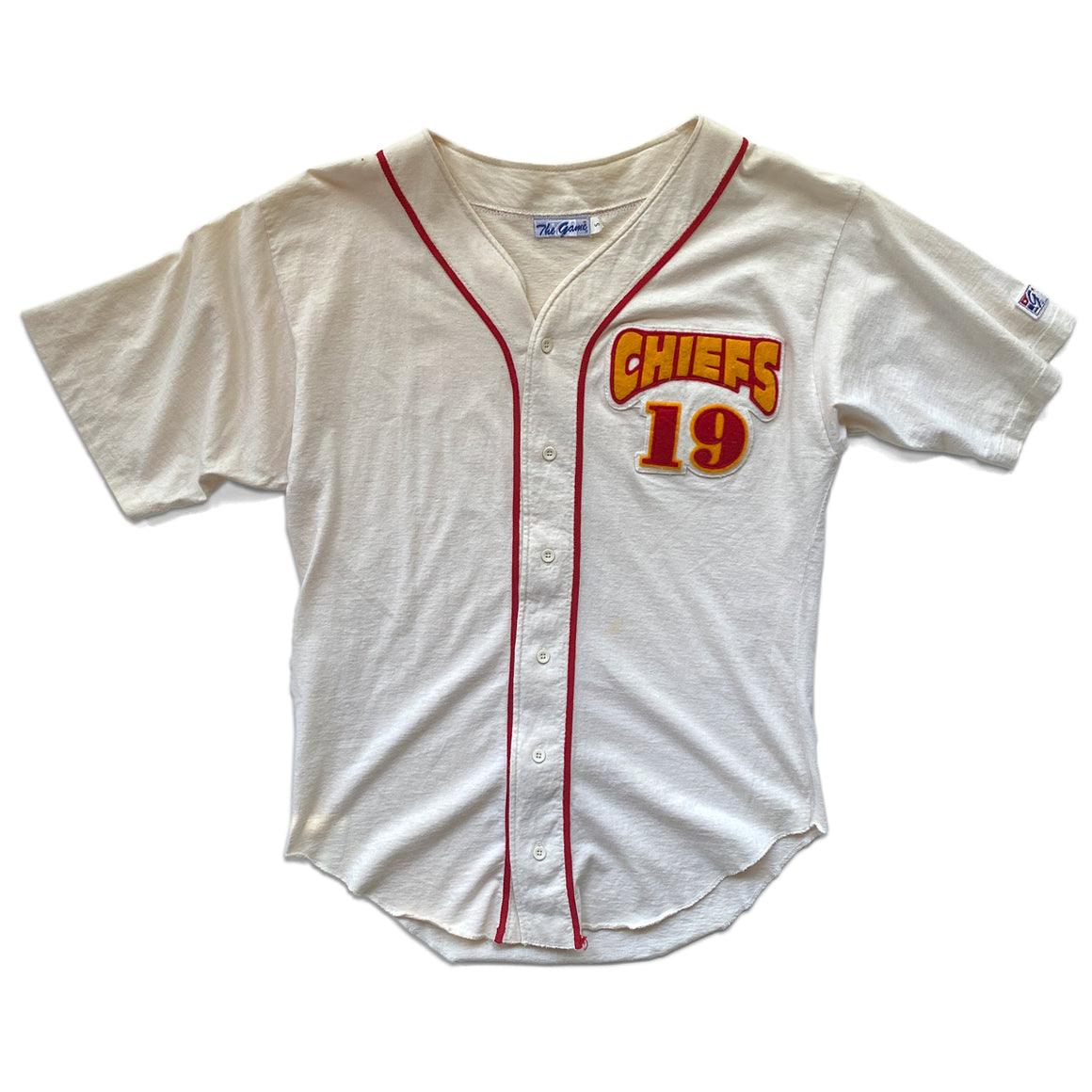 WESTSIDE STOREY VINTAGE | THE GAME KC CHIEFS JOE MONTANA BASEBALL JERSEY