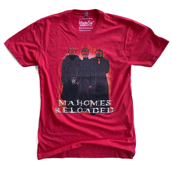 WONDERBOY APPAREL | MAHOMES RELOADED T-SHIRT - RED