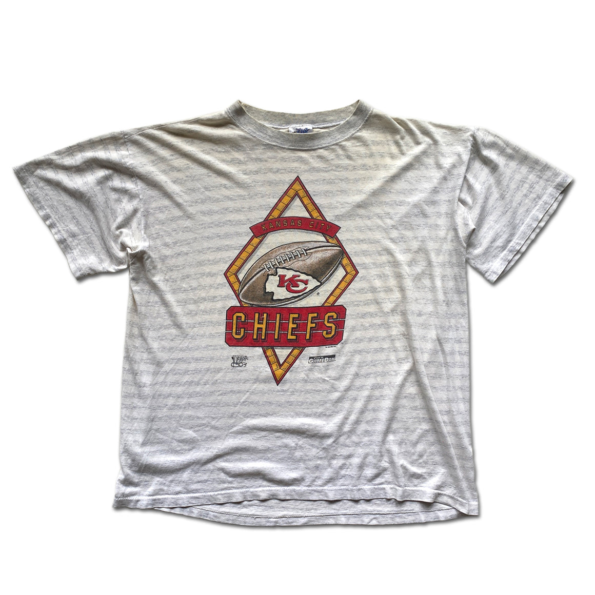 WESTSIDE STOREY VINTAGE | OFFICAL FAN 1992 STRIPED KC CHIEFS TEE