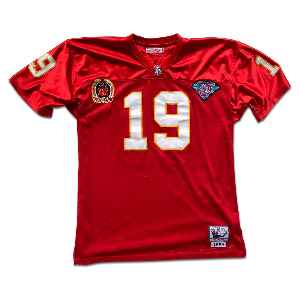 WESTSIDE STOREY VINTAGE | MITCHELL & NESS KC CHIEFS JOE MONTANA 75TH ANNIVERSARY JERSEY