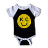 BELLBOY | KIDS KC SMILEY ONESIE - BLACK