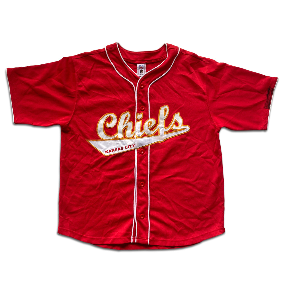 WESTSIDE STOREY VINTAGE | LARRY JOHNSON KC CHIEFS BASEBALL JERSEY RED