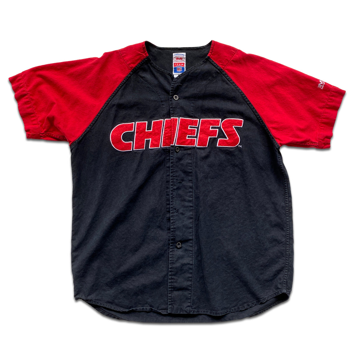 WESTSIDE STOREY VINTAGE | MIRAGE KC CHIEFS BASEBALL JERSEY BLACK