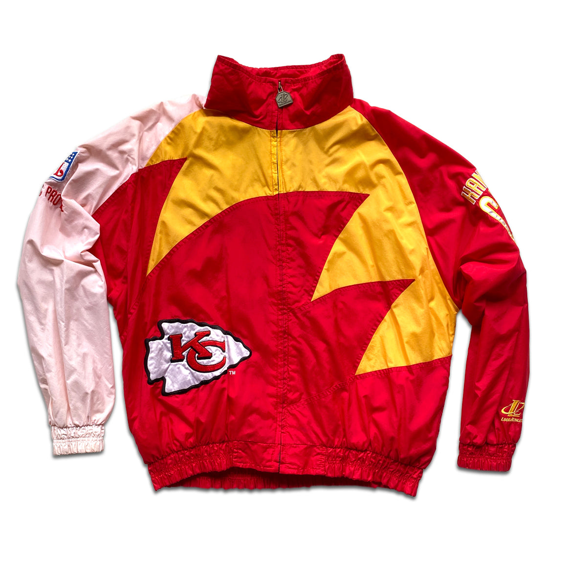 WESTSIDE STOREY VINTAGE | LOGO ATHLETIC PRO LINE KC CHIEFS SHARKTOOTH JACKET