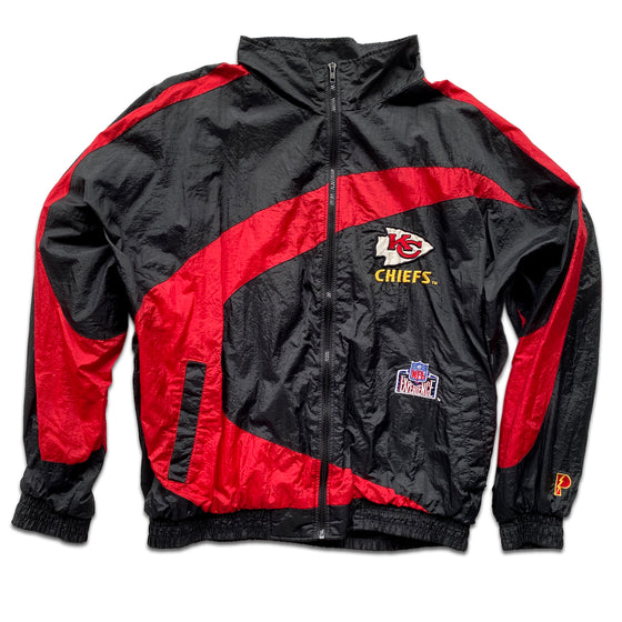 WESTSIDE STOREY VINTAGE | PRO PLAYER KC CHIEFS COLOR BLOCK JACKET BLACK