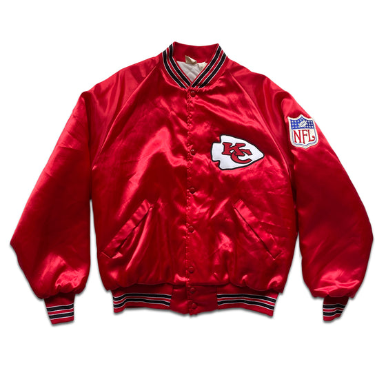 WESTSIDE STOREY VINTAGE | TEAM NFL SATIN KC CHIEFS PATCH JACKET