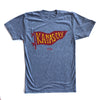 BELLBOY | KC PENNANT T-SHIRT - GREY/RED/YELLOW
