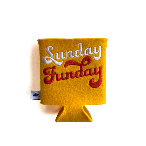 WLLE | DRINK SWEATER KOOZIE - GOLD SUNDAY FUNDAY