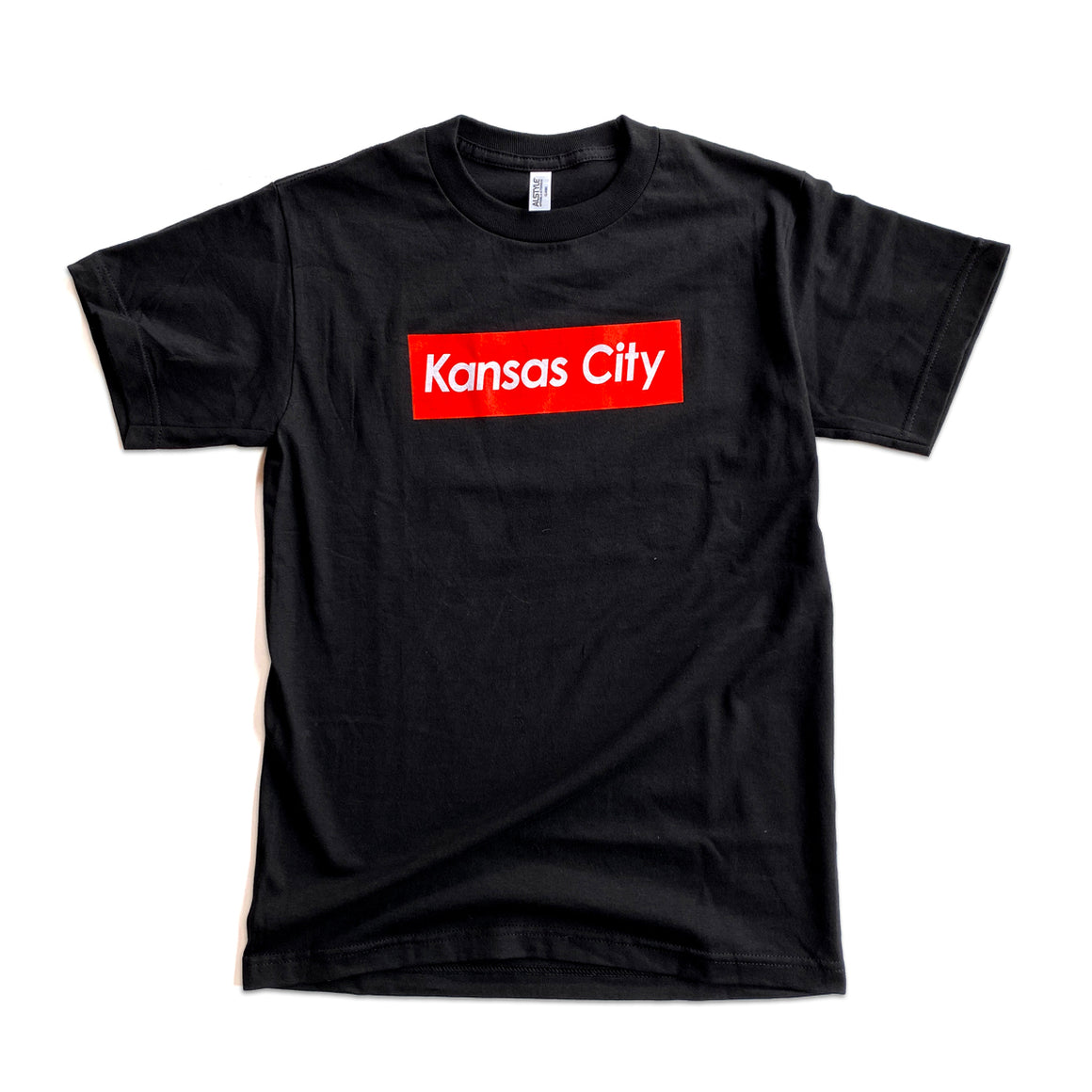 KCMO.CO | KANSAS CITY SUPREME T-SHIRT - BLACK/RED