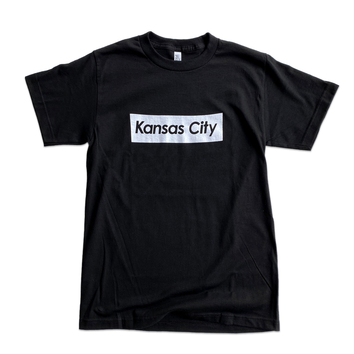 KCMO.CO | KANSAS CITY SUPREME T-SHIRT - BLACK/WHITE
