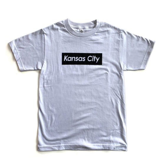 KCMO.CO | KANSAS CITY SUPREME T-SHIRT - WHITE/BLACK