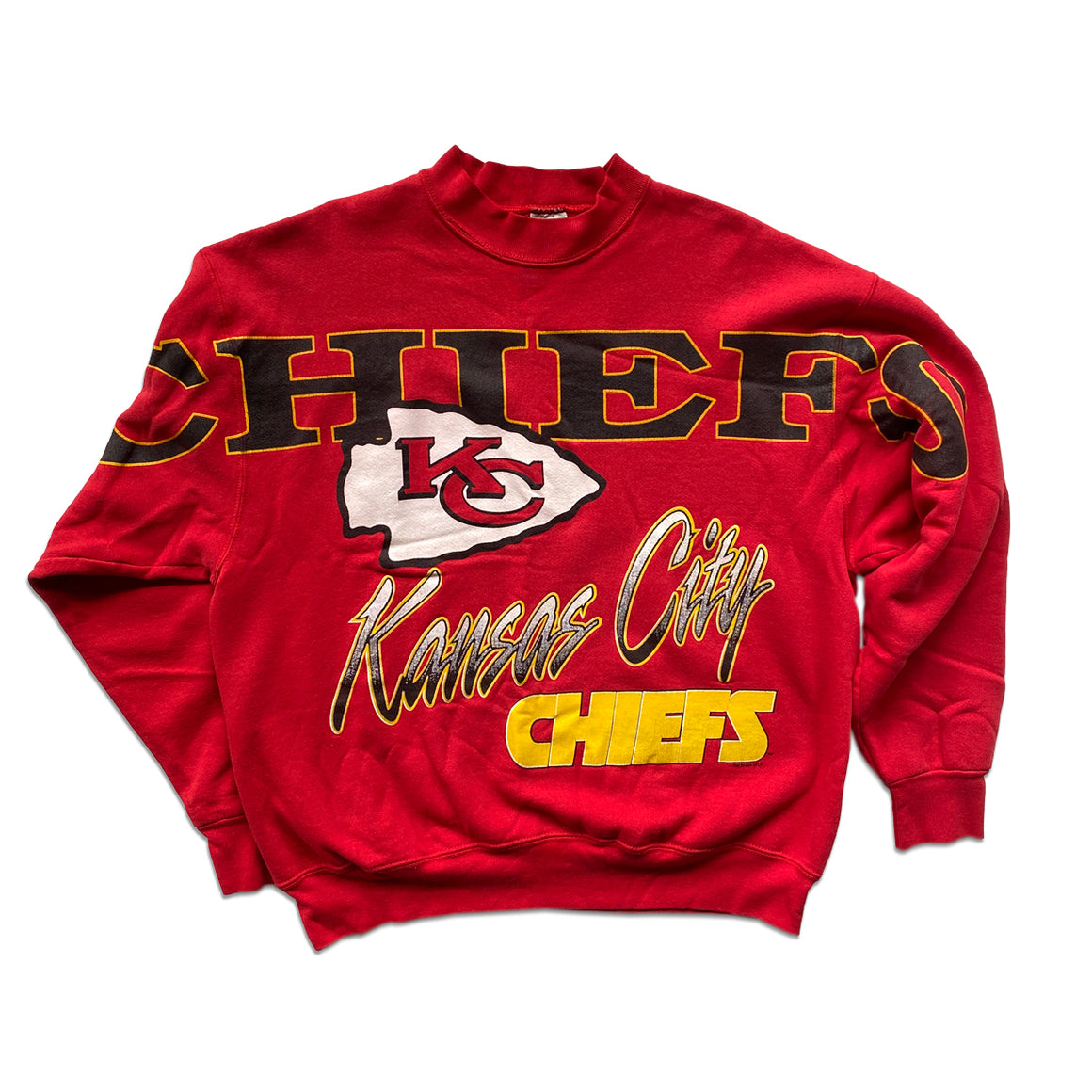 WESTSIDE STOREY VINTAGE | FRUIT OF THE LOOM SPELL-OUT KC CHIEFS SWEATSHIRT