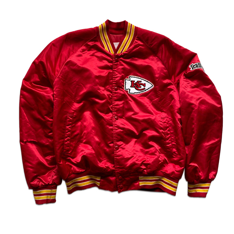 WESTSIDE STOREY VINTAGE | BLANK TAG LOCKER LINE SATIN KC CHIEFS SPELL-OUT JACKET