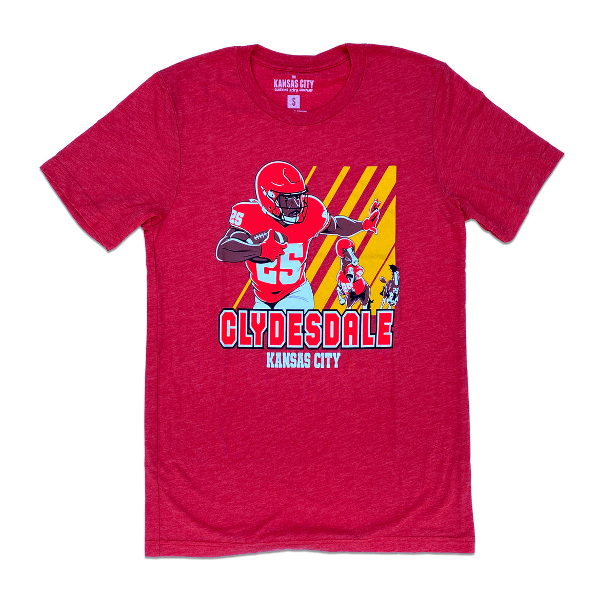 KC CLOTHING | KC CLYDESDALE T-SHIRT - RED