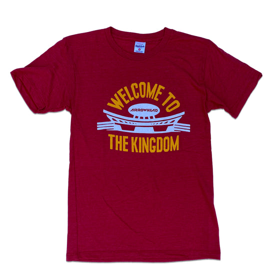CHARLIE HUSTLE | WELCOME TO THE KINGDOM ARROWHEAD T-SHIRT - RED