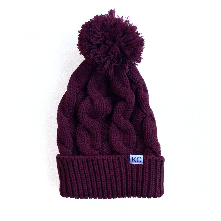 BELLBOY | CHUNK TWIST BEANIE - BURGUNDY