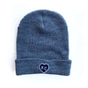 CHARLIE HUSTLE | HEART KC BEANIE GREY & NAVY